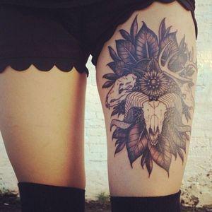 Western type feel tattoo