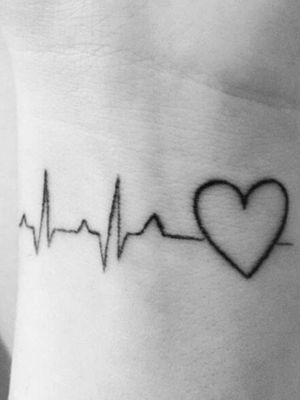 On my left wrist reminding me that everybody has a heart capable of breaking and that the human heart is such a powerful but fragile thing. this shows me when i am going through a tough time that life goes on and to treat others with as much love and compassion as my heart would like to receive.