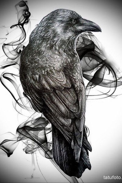 #raven #realism #realistic #blackwork #smoke #Black #awesome