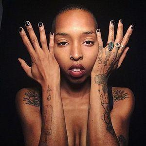 Hand poke tattooer and collector Brain Garden #BrainGarden #qpocttt #qpoc #pridemonth #pride #lgbtq #portrait