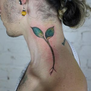 Tattoo by Evan Paul English #EvanPaulEnglish #pridemonth #pride #lgbtq #plant #leafs #nature #grow