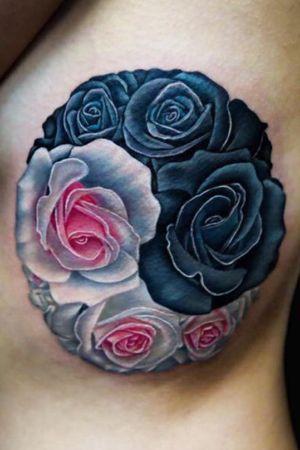 Yin yang roses