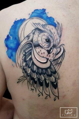 Owl #art #artists #tattoo #tattooartist #draw #drawing #drawings #tattoos #tattooink #ink #inkedgirls #tattooer #tattooed #inkdrawing #follow4follow #followforfollow #like4like #likeforfollow #likeforlike #owl #watercolor #rosetattoo