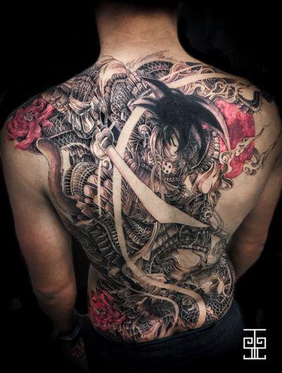 #sangoku #manga #moon #dragon #japanese #japanesetattoo #dragontattoo #japanesedragon #samouraï #asian #AsianTattoos #fullback #convention #lotus #lotustattoo #dragonball #dragonballz