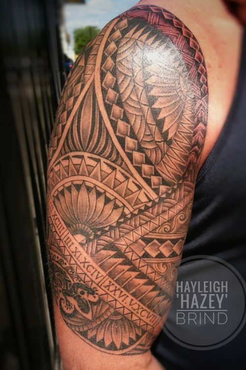 Freehand Polynesian tattoo. #polynesiantattoo