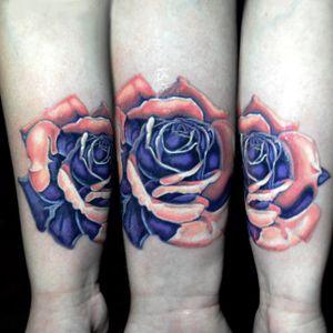 Rose on Leslie's forearm