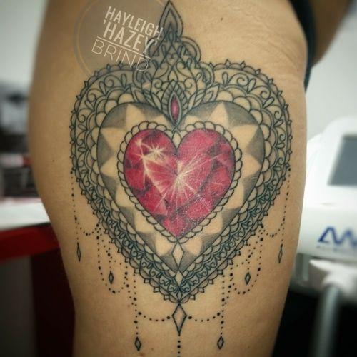 Gemstone tattoo. #gemstonetattoo #jeweltattoo