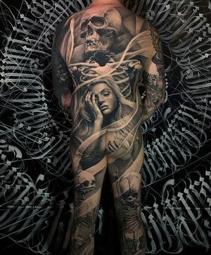 By Matt Jordan #shipshapetattoo #backpiece #bodysuit
