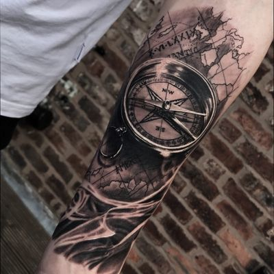Map amd compass