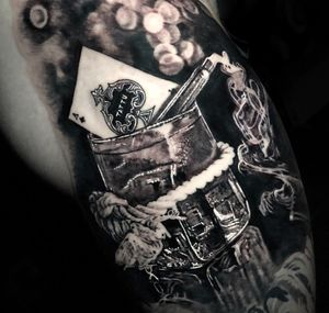 #SmokinAces from Tattu Restaurant Manchester #tattoo #tattoos #tattooartist #BishopRotary #BishopBrigade #BlackandGreytattoo #QuantumInk #ImmortalAlliance #SullenClothing #SullenArtCollective #Sullen #SullenFamily #TogetherWeRise #ArronRaw #RawTattoo #TattooLand #InkedMag #Inksav#BlackandGraytattoo #tattoodoapp #tattoodo
