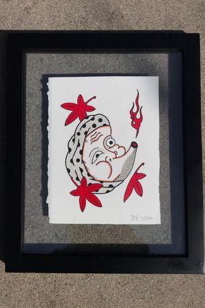 #Hyottoko #mask #japanesetattoo #japanesetraditional #painting #jfztattoo #japanese #momiji #masktattoo #irezumi #horimono #wabori
