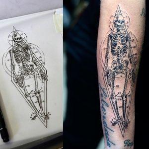 #skeletontattoo #skeleton #esqueleto