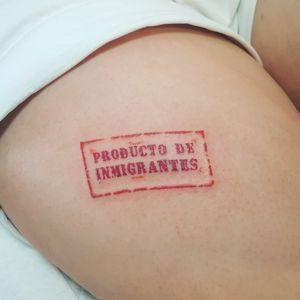 Tattoo Stamp #tattoostamp #TattooGirl #inmigrant #SpanishTattoos #SpanishArtists #stamped #veganink #vegantattoo #femaletattooartist
