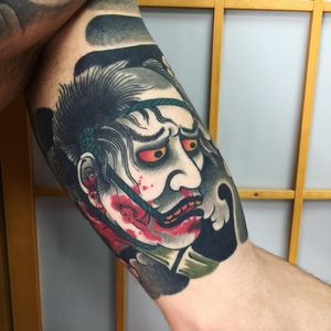 Tattoo by Sergey Buslay #SergeyBuslay #tattoodoambassador #Japanese #irezumi #namakubi #severedhead #blood #portrait #ghost #death #head #warrior