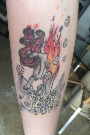 Alphonse Mucha - Fire Element