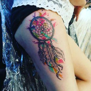 #dreamcatcher #dreamcatchertattoo #watercolourart #watercolour #watercolourtattoo #colourfultattoo #coloursplash #coloursplat #coloursplattattoo #legtattoo #trojanfitness #ramificationsattrojanfitness #ramifications #tattoolife #tattoos #tattooartist#bristol#tattoolife#tattoos#tattooartist#carlaprosser #femaletattooartist
