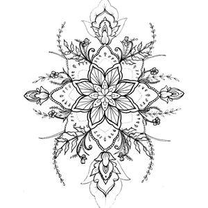 #mandalatattoo #mandala #geometrictattoo #flowermandala #flowertattoodesigns #flowers #orientaltattoo #linework