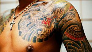 New Yakuza series (colored tattoo) #japan #gangsters #dragon #coloredtattoo #chest #latestseries #yakuzaofficial