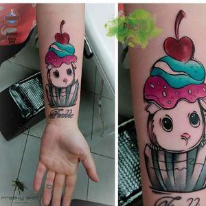 #guineapig #cupcaketattoo #cupcake #sweet #cute #tattoo #paoli
