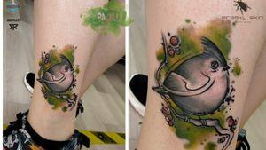 #bird #birdtattoo #watercolortattoos #tattoo #paoli