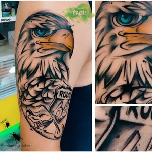#eagle #motorcycle #route66 #chopper #passion #hobby #watercolortattoos #paoli