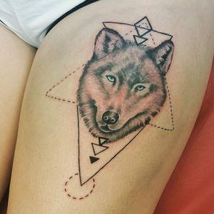 #wolfhead #wolftattoo #realistic