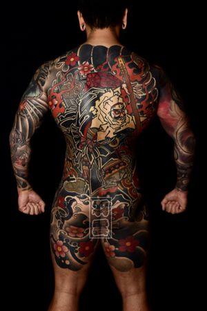 #benkei #warrior #bodysuits #backpiece #japanesetattoo #feathercloud #japanesetattoos #shanetan #tattoo #japaneseart #japanesetattooart #irezumi #wabori
