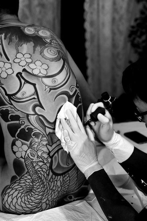 #hannya  #bodysuits #japanesetattoo  #feathercloud #japanesetattoos #shanetan  #tattoo  #japaneseart #japanesetattooart
