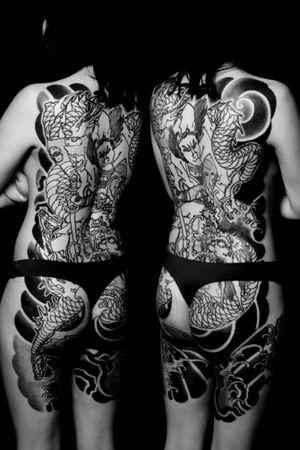 #bodysuits #wadaheitatanenaga #backpiece #japanesetattoo #feathercloud #japanesetattoos #shanetan #tattoo #japaneseart #japanesetattooart #irezumi #wabori