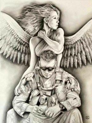 #angel #militarytattoos