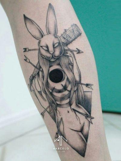 Dark Rabbit 🐰#art #tattoo #blackwork #dotwork #rabbit #animal #sketch #arte #tatuagem #ilustração #illustration #color #painting #pontilhismo #geometrictattoo #tattoodo #draw #drawing #vsco #line #dark #horror #fineline #aesthetic #tumblr #sketchbook #blackworkssubmission #dark #dot