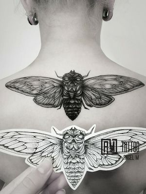 Tattoo project by @angelmetall  ___________ #am_tattoo #blackink #minitattoo #blackinktattoo #ta2  #backtattoo #linework #blacktattoo #tats #toptattoos #toptattooartist #besttattoos #insecttattoo #instatattoo #instaart #inspirationtattoo #sketchtattoo #dotworktattoo