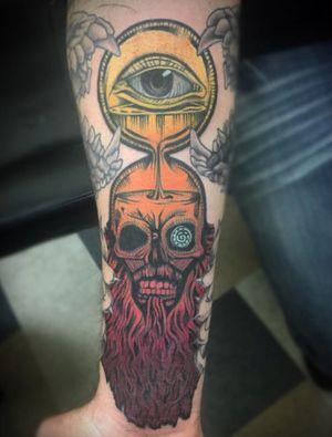 Killswitch engage tattoo #skull #color #killswitchengage