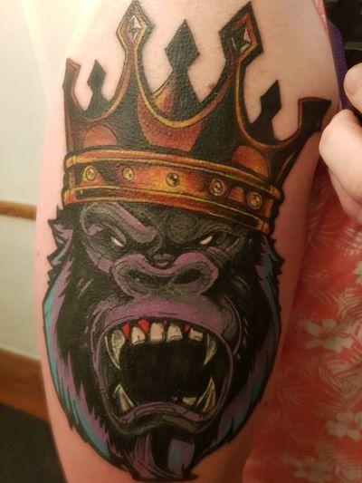 King Kong illustration piece #gorilla #king #crown #kingkong