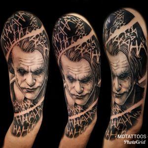 Morg finished this in 2 day sittings #joker #jokertattoo #batmantattoo #tattoo #dccomicstattoo #dccomics #comic #jokerportrait #batmanjoker