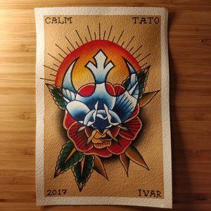 Traditional old school flash jedi star wars rose