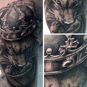 Lion Basketball tattoo