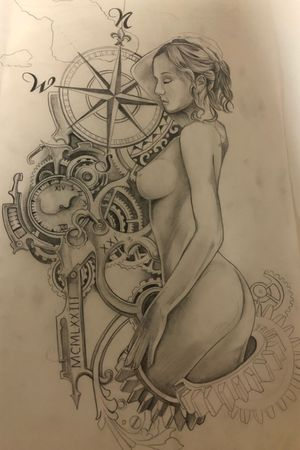 Sketch for marks leg piece