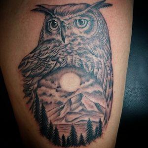 Follow me for more ink 💉 💉 Is allways nice wen people ask for Your desing, Owl and mountain done Whit kaco Tattoo machine vorace. 😎 ✌🏼 💉 💉 Entre Lagos Tattoo & Art Gallery Centralstrasse 42 Interlaken. WhatsApp :079 448 35 83 Facebook :jairo ramirez art Instagram :JAIRO_RAMIREZART Www.entrelagostattooartgallery.com Jairoramirezart@gmail.com