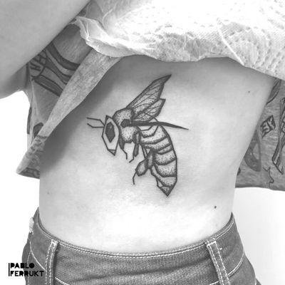 Geometric dotwork bee! ⠀ I have more geometric animals/insects write me if you want one! ⠀ Appointments at pabloferrukt@icloud.com⠀ #geometrictattos .⠀ .⠀ .⠀ .⠀ #tattoo #tattoos #tat #ink #inked #tattooed #tattoist #art #design #instaart #tattosleeve #blackwork #tatted #instatattoo #bodyart #tatts #tats #amazingink #tattedup #inkedup⠀ #berlin #berlintattoo #beetattoo #blackworkers #berlintattoos #dotworktattoos #dotwork #tattooberlin #bee