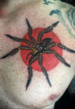 Jammer #spider #spidertattoo #tarantula #traditionaltattoo #AmericanTraditional