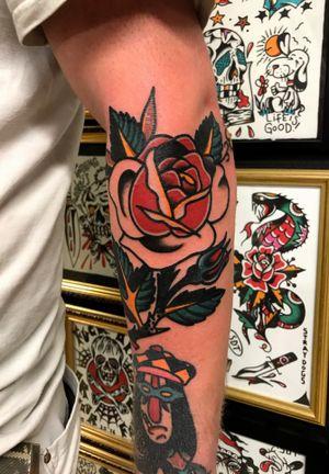 Classic rose tatt