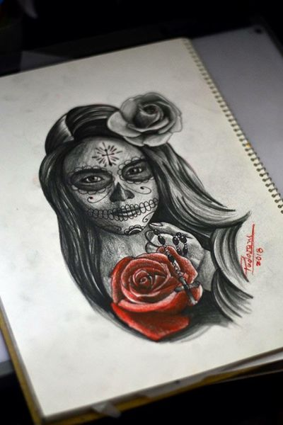#catrina #tattoosketch