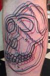 3D Gorilla Skull #linework #3D