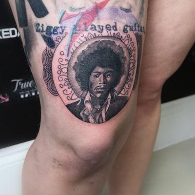 Added Jimi Hendrix mandala to a music leg sleeve. Undernearth the David Bowie/Ziggy I did just over a year ago, and next to the Michael Jackson I did a few weeks ago 🖤🎸🎤🎼🎵🎶🎸🎤🎼🎵🎶🎸 #tattoo #tattooapprentice #gettingbetter #alwayslearning #tattoos #tattooist #tattooideas #tattooart #blackandgreytattoo #cooltattoos #portrait #portraittattoo #microportrait #realismtattoo #mandalatattoo #girlswithtattoos #girlswithink #musictattoo #rockandroll #jimihendrix #davidbowie #ziggystardust #michaeljackson #eikongreenmonster #hustlebutterdeluxe #electrumstencilprimer #killerinktattoosupplies