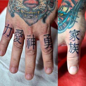#fingertattoo #kanjis