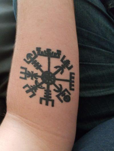 Runic Compass. #norse #nordic #NorseTattoos #norsepagan #runiccompass