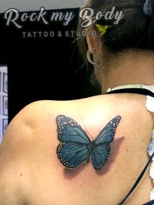 #butterflytattoo #Butterflies #tattooartist #3dtattoo #mariposa #tatuajes #blueink