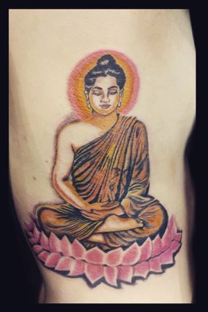 #buddha #buddhatattoo #buddhism #color #tattoooftheday