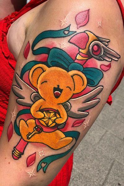 Kuro Chan done by me! #kawaii #kawaiitattoo #anime #tattooartist #tattoo #cutetattoo #colourfultattoo